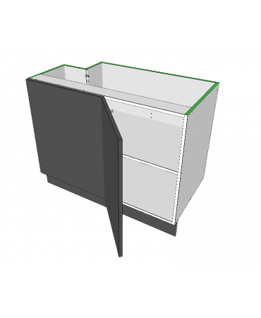 1 Door Blind Corner With Stack - Premium Custom
