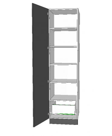 1 Door Pantry With 1 Inner Drawer - Premium Custom