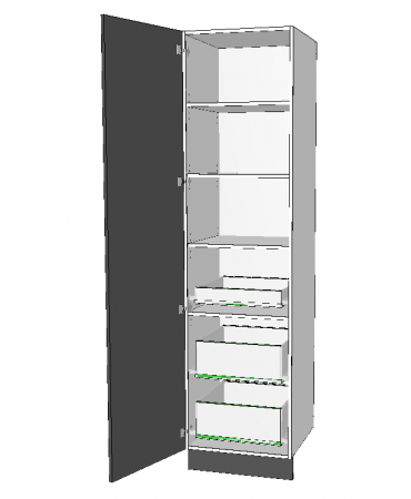 1 Door Pantry With 3 Inner Drawer - Premium Custom