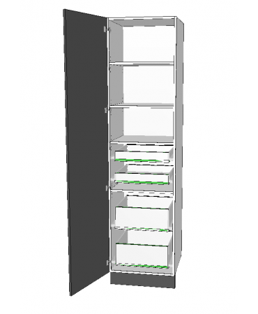 1 Door Pantry With 4 Inner Drawer - Premium Custom