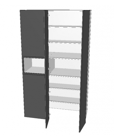 2 Door Blind Pantry With Micorwave - Walk in - Premium Custom