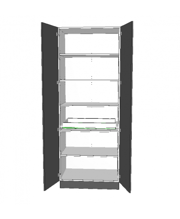 2 Door Pantry With 1 Inner Drawer - Premium Custom