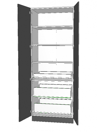 2 Door Pantry With 3 Inner Drawer - Premium Custom