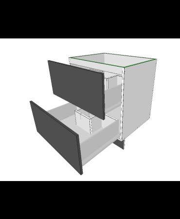 2 Equal Drawers With U Shaper Drawers - Premium Custom