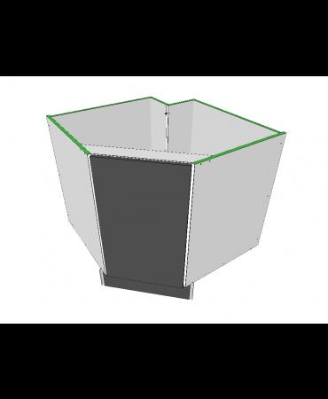 45 Degree Corner Cabinet With Stack - Premium Custom