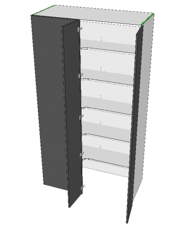 Blind Corner Pantry - 2 Door - Walk In - Premium Custom