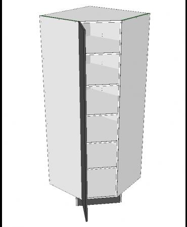 Corner Panrty - 45 Degree - Modular - Shaker
