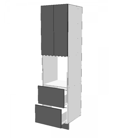 Pantry Tower - 2 Drawers + Oven + 2 Doors - Premium Custom