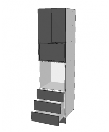 Pantry Tower - 3 Drawers + Micorwave + 2 Doors - Premium Custom