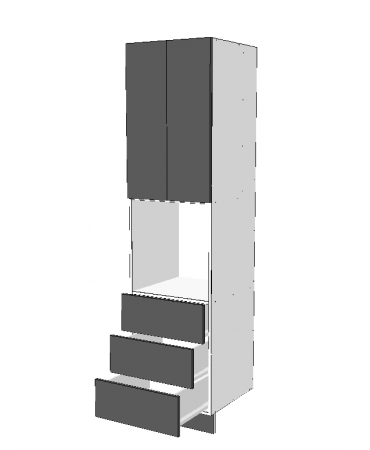 Pantry Tower - 3 Drawers + Oven + 2 Doors - Premium Custom