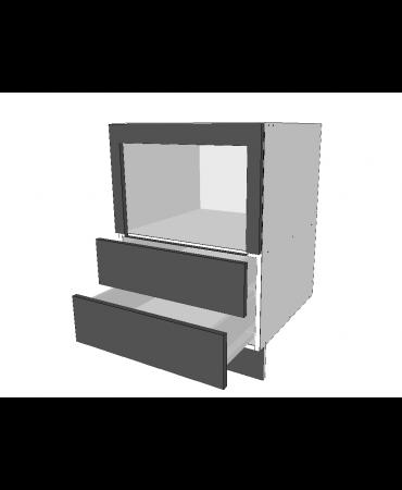 Under Bench Roller Door Cabinet With 2 Drawer - Premium Custom