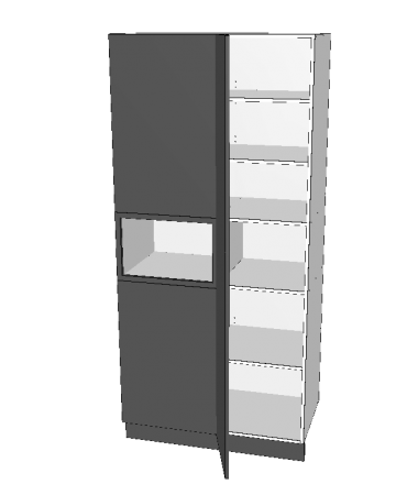 1 Door Blind Pantry With Micorwave - Premium Custom