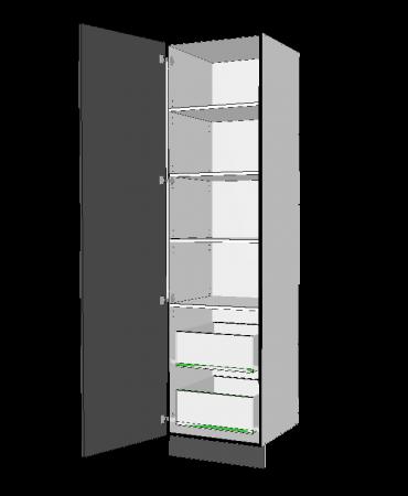 1 Door Pantry With 2 Inner Drawer - Premium Custom
