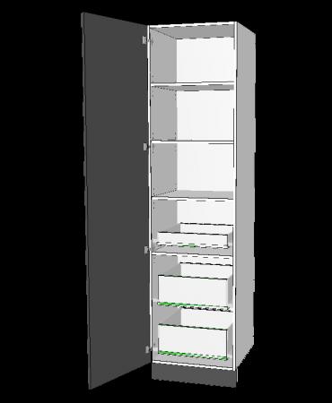 1 Door Pantry With 3 Inner Drawer - Premium Custom