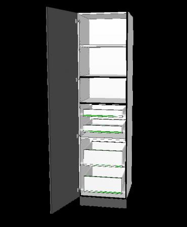 1 Door Pantry With 4 Inner Drawer - Premium Custom