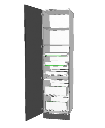 1 Door Pantry With 5 Inner Drawer - Premium Custom