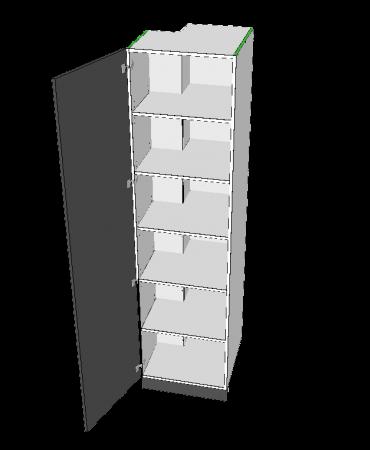 2 Door Pantry With Left Stack - Premium Custom