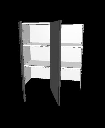 2 Door - Benchtop Bi Fold Cabinet - Premium Custom