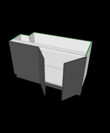 2 Door Blind Corner With Stack - Premium Custom