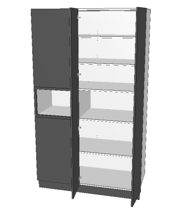 2 Door Blind Pantry With Micorwave - Premium Custom