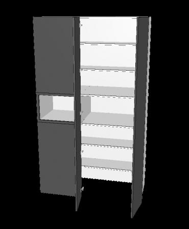2 Door Blind Pantry With Micorwave - Walk in - Premium Custom