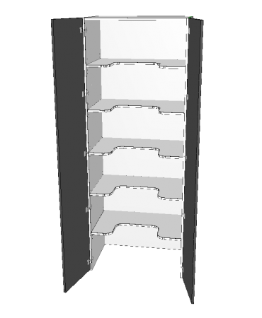 2 Door Pantry - Walk In - U-Shaped Shelving - Premium Custom