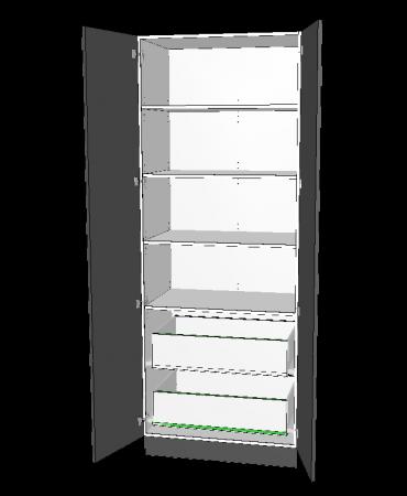 2 Door Pantry With 2 Inner Drawer - Premium Custom