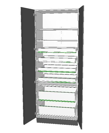 2 Door Pantry With 6 Inner Drawer - Premium Custom
