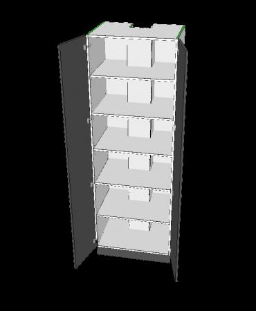 2 Door Pantry With Middle Stack - Premium Custom