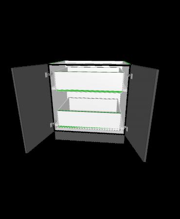 2 Door With 2  Inner Drawer - Premium Custom