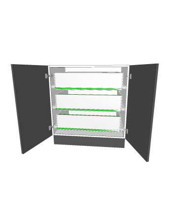 2 Door With 3  Inner Drawer - Premium Custom