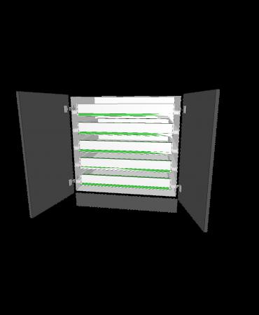 2 Door With 5  Inner Drawer - Premium Custom