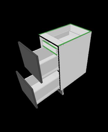 2 Equal Drawer + 1 Inner  - Premium Custom