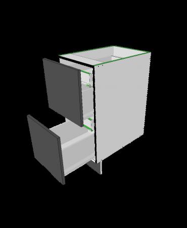 2 Equal Drawer+ 2 Inner Drawers - Premium Custom