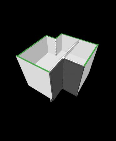 3 Door Corner Cabinet With Stack - Premium Custom