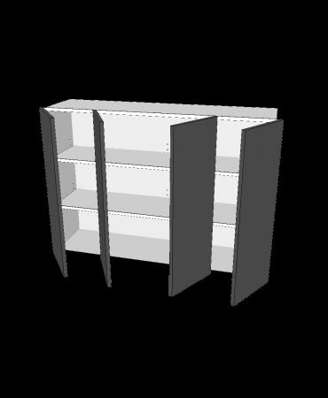 4 Door - Benchtop Bi Fold Cabinet - Premium Custom