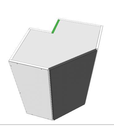 Angled Top Corner Cabient With Stack - Premium Custom