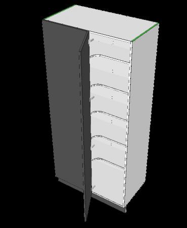 Blind Corner Pantry- 1 Door - Modular - Formica