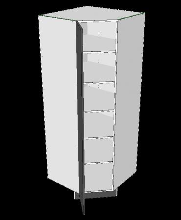 Corner Panrty - 45 Degree - Modular - Formica