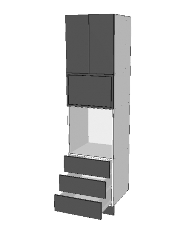 Pantry Tower - 3 Drawers + Micorwave + 2 Doors - Premium Custom