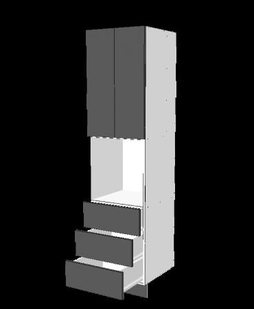 Pantry Tower - 3 Drawers + Oven + 2 Doors - Premium Custom