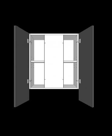 Slide Out Rangehood  - 2 Door - With Duct - Premium Custom